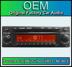 Porsche 911 996 Turbo Cdr23 Becker Be 6612 Cd Player Plug And Play, Stereo