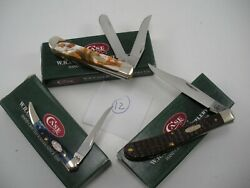 NOS LOT OF 3 CASE KNIVES NEVER USED IN BOX B E amp; MINI TRAPPER SMALL TOOTHPICK