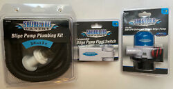 New Shoreline Marine Bilge Pump 800 Gph With 5 Ft Plumbing Kit And Float Switch