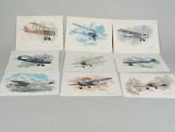 Vintage United Airlines Nixon Galloway Prints - Set Of 21 From The 1970's