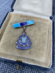 Super Antique Silver And Enamel Royal Army Ordnance Corps Sweetheart Brooch Pin