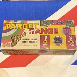 Boxed Marx Toys Practice Target Range Arcade Game / Shooting Gallery Rare 1950s