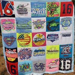 Custom Hand Made T-shirt Blanket Or Quilt Using Your T-shirts