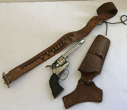 Mattel Fanner 50 Toy Cap Gun Leather Belt And Holster W/bullets Untested