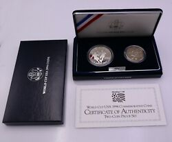 1994 Us Mint Usa World Cup Commemorative Two-coin Proof Set