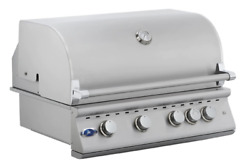 32 Stainless Steel Built In Outdoor Barbecue Island Grill 4 Burner Drop In Bbq