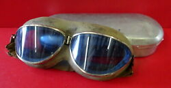 1930andrsquos Seesall Flying Goggles W/blue Lenses 100 Original