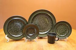 Franciscan Earthenware Madeira Four 5-piece Place Settings 20 Pieces 1970s Usa