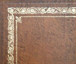 London Tan Calf Leather Insert For Desks Writing Tables And Bureaus Gold Tooling