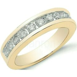 Certificated Diamond Eternity Ring 1.00ctw Channel Set 18k Gold Large Size R-z
