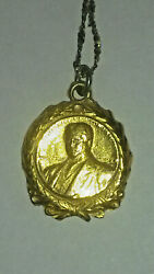 Atandt Gold Vail Hero Award Medal Necklace Awarded For Skydiving Air-to-air Rescue