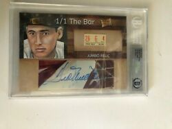 Ted Williams 1/1 The Bar Auto / Vintage Ticket Relic Jsa Y50101