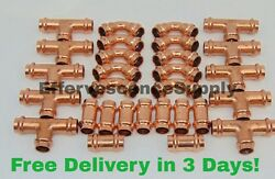 Lot Of 30 2 Propress Copper Fittings.tees Elbows Coupling Press Fittings