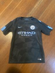 Nike Dri Fit Manchester City Soccer Jersey Youth Large