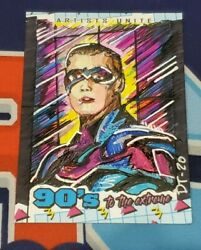 2020 90's To The Extreme Batman And Robin Chris O'donnell Artist Sketch Card 1/1