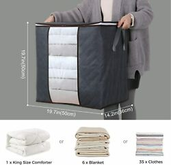 Lifewit Large Capacity Clothes Storage Bag Organizer Grey