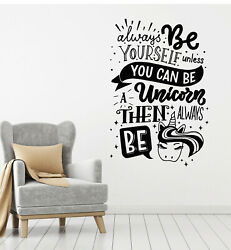 Vinyl Wall Decal Funny Quote Words Unicorn Kids Room Stickers Mural G3503