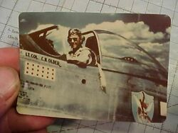 Original Rare Wwii Color Photo Wwii Flying Tiger 23rd Ftr Triple Ace In P-51
