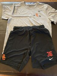 Usc Trojans Nike Football Shirt Shorts Xl Large Team Issued 36 Conditioning