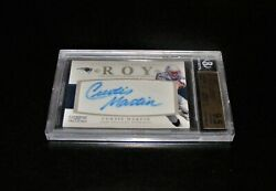 2011 National Treasures Curtis Martin Roy Leather Autograph 'ed 06/26 Bgs 9.5