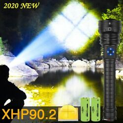 Led Flashlight Torch Tactical Zoom Usb Rechargeable Shock Resistant Flashlights