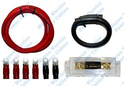 Diy High Output Heavy Duty Alternator Wiring Kit 1/0 Gauge Wire Cca Cable 200a