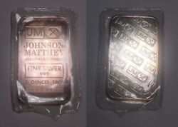 Rare Jm 2 Oz Pure 999 Silver Bar In Original Packaging Very Collectible