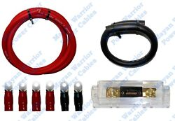 Diy High Output Heavy Duty Alternator Wiring Kit 1/0 Gauge Wire Cca Cable 300a