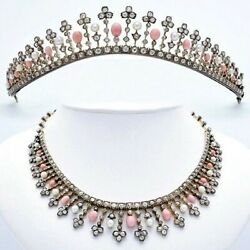 925 Sterling Silver Opal Fringe Vintage Style Convertible Necklace To Tiara