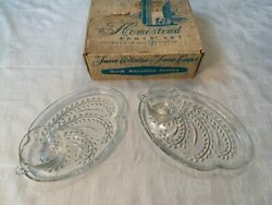 Vintage 1950's Homestead Snack Sets, Federal Glass 3 Sets. 11 Plates And 12 Cups