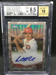 2013 Topps Chrome 128 Anthony Rendon Auto Camo Jersey Refractor 6/15 Bgs 9.5