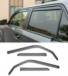 For 10-up Toyota 4runner In-channel Visors Side Vents Jdm Window Rain Guards