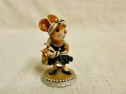 Wee Forest Folk Flapper Franny Special Edition Black M-328 Mouse Figurine