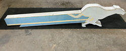 Vintage Greyhound Bus Sign 8 Foot Long Lighted Gas Oil Very Rare