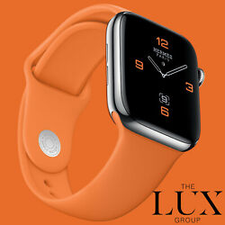 Series 5 Hermes Apple Watch 44mm Orange Sport Band New No Leather Band
