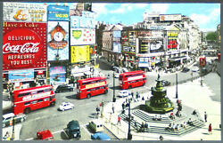 Piccadilly Circus - Double Deck Bus - Coca Cola + 1966 Pc904