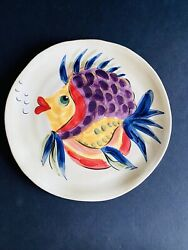6 Dinner Plates 11 3/8 Tabletops Unlimited Under The Sea Fish