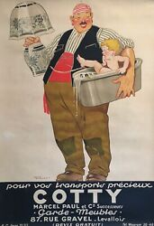 Art Deco Original Vintage French Poster And039cottyand039 By Rene Vincent 1925