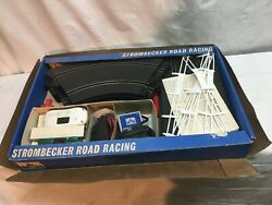 Vtg 1960andrsquos Strombecker Racing Slot Car Set Model 9935 Cars 14 Pc Track Layout