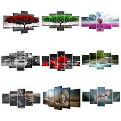 5 Panels Unframed Modern Art Oil Painting Picture Room Wall Hanging Home Decor