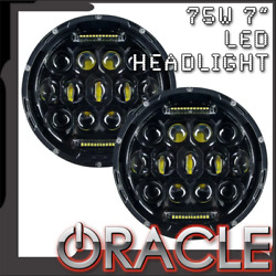 Oracle Off-road 75w 7 Cree Led Replacement Headlights Pair 5774-504