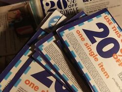 Lot Of 35 X Bed Bath And Beyond 20 Off Coupons Assorted Exp Lot Bbandb Any Item ...