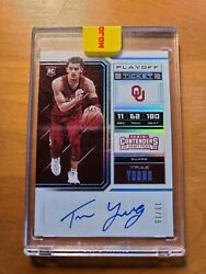 2018 Panini Contenders Draft Picks Basketball Trae Young On Card Rookie Auto...
