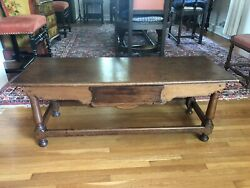 Antique French Henry Ii Style Low Boy Coffee Or Utility Table