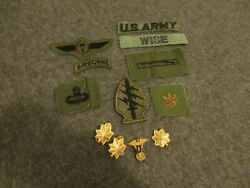 Vietnam War Us Army Airborne Officer Patches And Collar Pins - Major/doctor