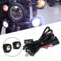 New Motorcycle Led Fog Light On-off Control Switches Wiring Harness Kit 12v 40a