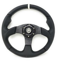Marine Boat White Steering Wheel With Hub Adapter 3/4 Tapered Keyway 3 Spoke