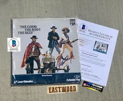 Clint Eastwood Signed Laserdisc The Good The Bad And The Ugly Beckett Bas Coa
