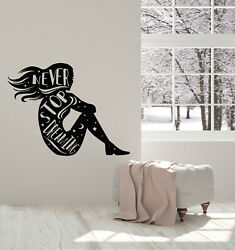 Vinyl Wall Decal Inspirational Phrase Never Stop Dreaming Girl Stickers G3590