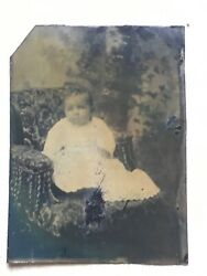 Xxx Rare Early 1800's Tintype African American Baby Beautiful Photo Pittsburgh